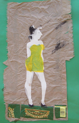 Amy, collage, 2008