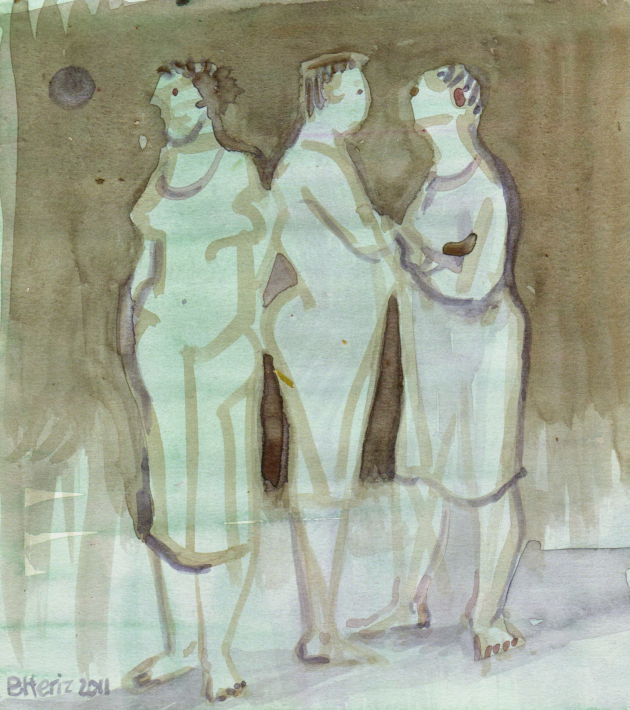 Questions, watercolour, 2011
