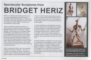 B.Heriz, Article in Aspire, Issue 408