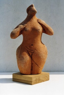 Goddess figurine, terracotta, 2002