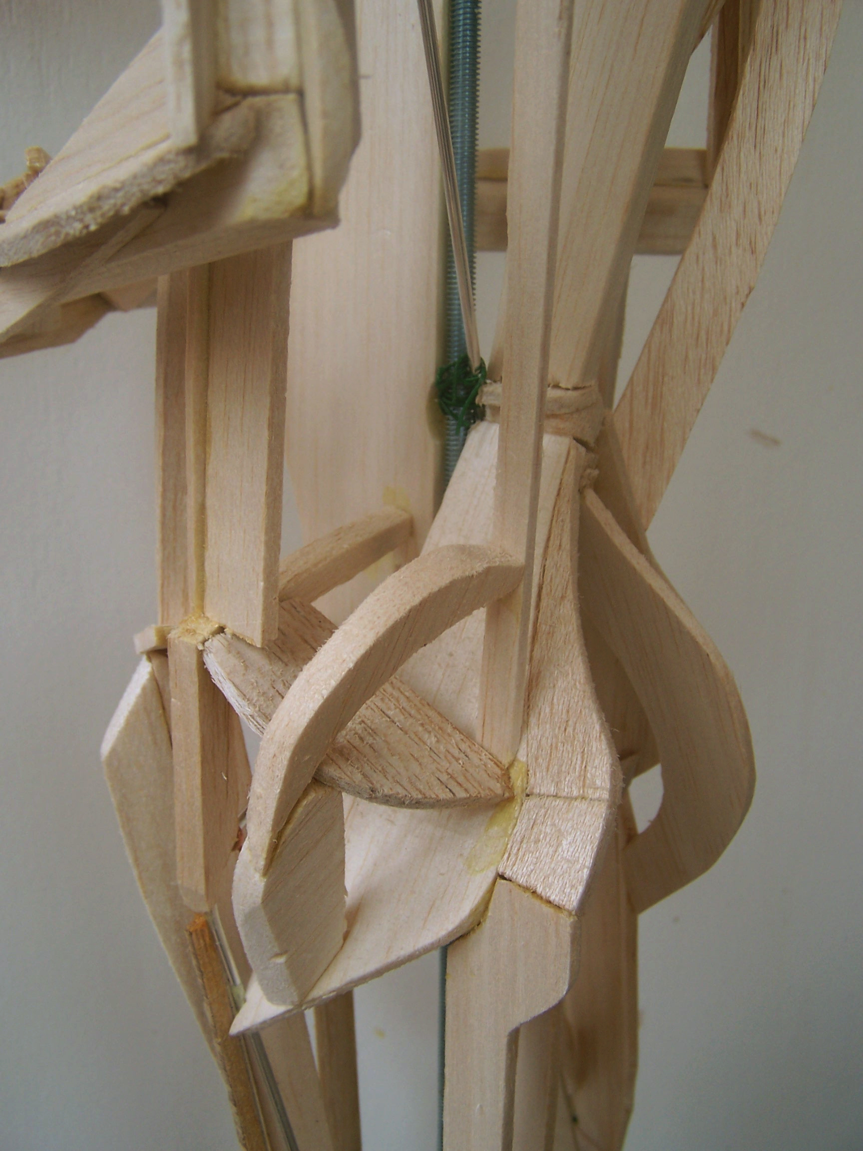 Work in progress, balsa wood and wire construction